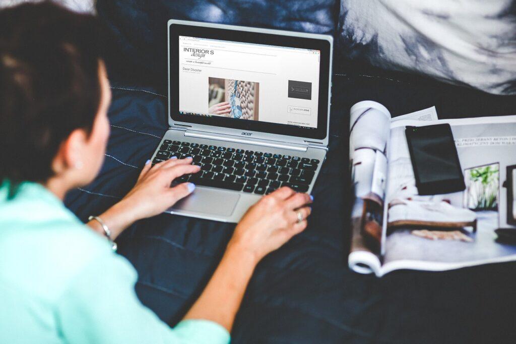 technology, laptop, woman